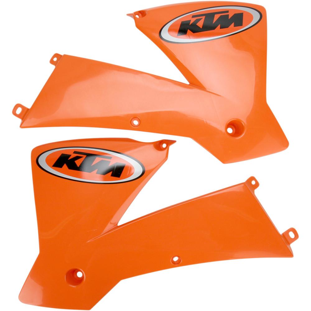 Acerbis Radiator Shrouds - '01 KTM - SX Orange