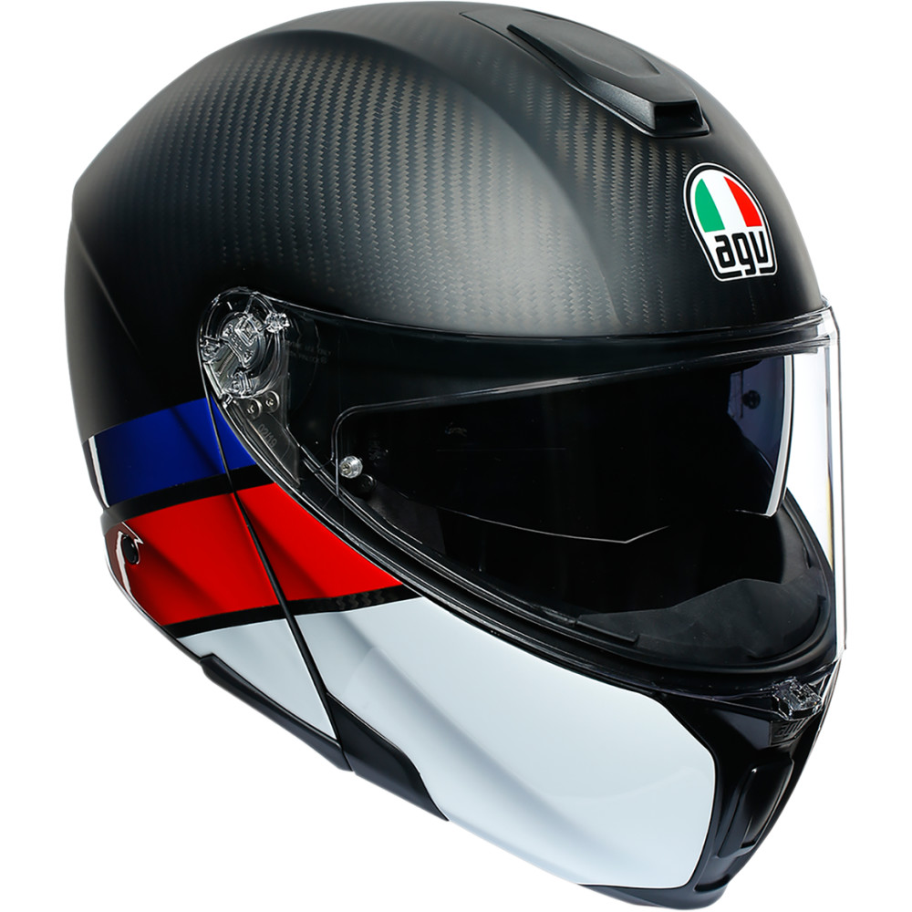 AGV SportModular Helmet (Layer - Matte / Gloss Carbon / Red / Blue)