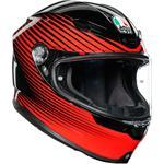 AGV K6 Helmet (Rush - Black / Red)
