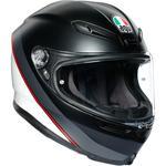 AGV K6 Helmet (Minimal - Matte Black / White / Red)