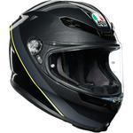 AGV K6 Helmet (Minimal - Gloss Gunmetal / Black / Yellow Fluo)