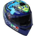 AGV K3 SV Helmet (Rossi Misano 2015 - Gloss Blue / Multi)