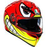 AGV K3 SV Helmet (Birdy - Gloss Red / Yellow)