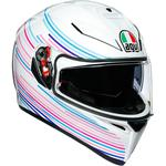 AGV K3 SV Helmet (Sakura - Gloss White / Purple)