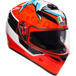 AGV K3 SV Helmet (Attack - Gloss Red / Multi)
