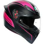 AGV K1 Helmet (Warmup - Matte Black / Pink)