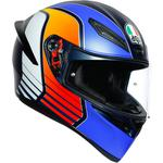 AGV K1 Helmet (Power - Gloss Blue / Orange / White)