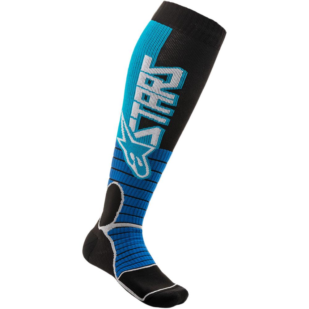 Alpinestars MX Pro Socks (Black / Cyan)