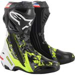 Alpinestars Limited Edition Crutchlow Supertech R Boots (Black / Red / Gray / White / Yellow)