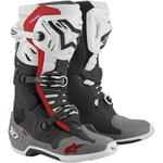 Alpinestars Tech 10 Supervented Boots (Black / White / Gray / Red)