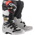 Alpinestars Tech 7 Boots (Black / Silver / White / Gold)