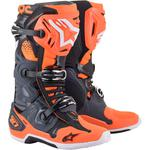 Alpinestars Tech 10 Boots (Gray / Orange / Black / White)