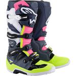 Alpinestars Tech 7 Boots (Gray / Black / Pink)