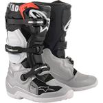 Alpinestars Youth Tech 7S Boots (Black / Silver / White / Gold)