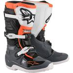 Alpinestars Youth Tech 7S Boots (Black / Gray / White / Orange Fluo)