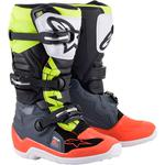 Alpinestars Youth Tech 7S Boots (Gray / Red / Yellow)