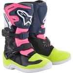 Alpinestars Child Tech 3S Boots (Black / Blue / Pink)