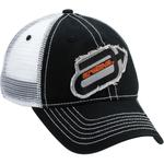 Arctiva Ragged Mesh-Back Adjustable Hat (Black / White)