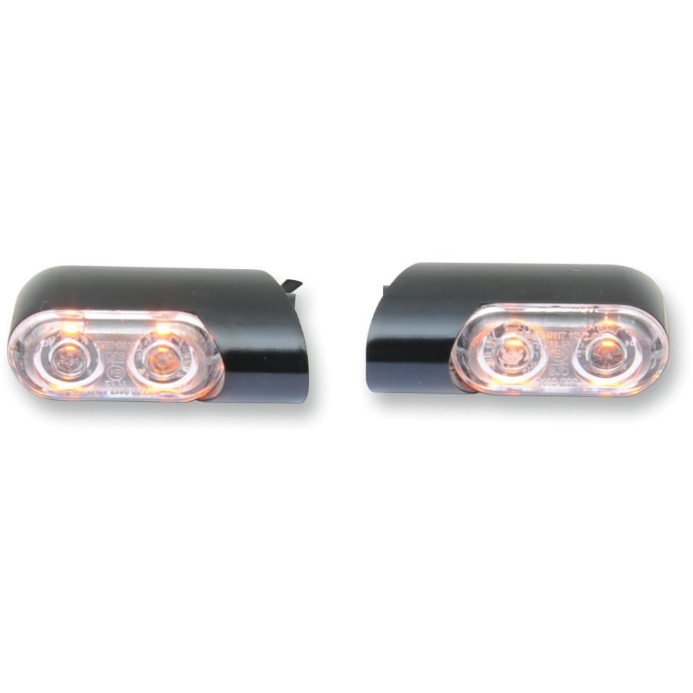 Arlen Ness Accessory Marker Lights - Amber/Front - Black