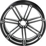 Arlen Ness 7 Valve Wheel Rim - 7 Spoke - Black - 17 x 6.25