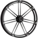 Arlen Ness 7 Valve Wheel Rim - 7 Spoke - Black - 23 x 3.50