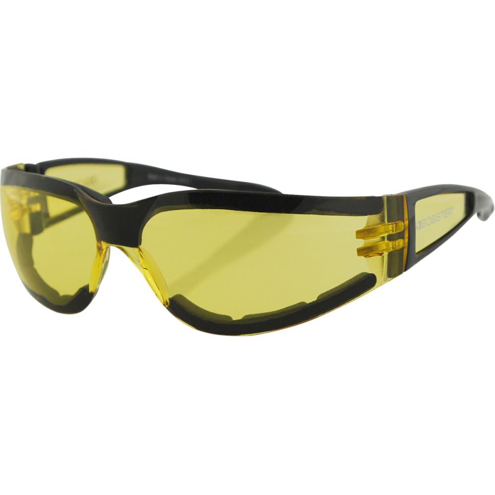 Bobster Shield II Sunglasses (Gloss Black, Yellow Lens)