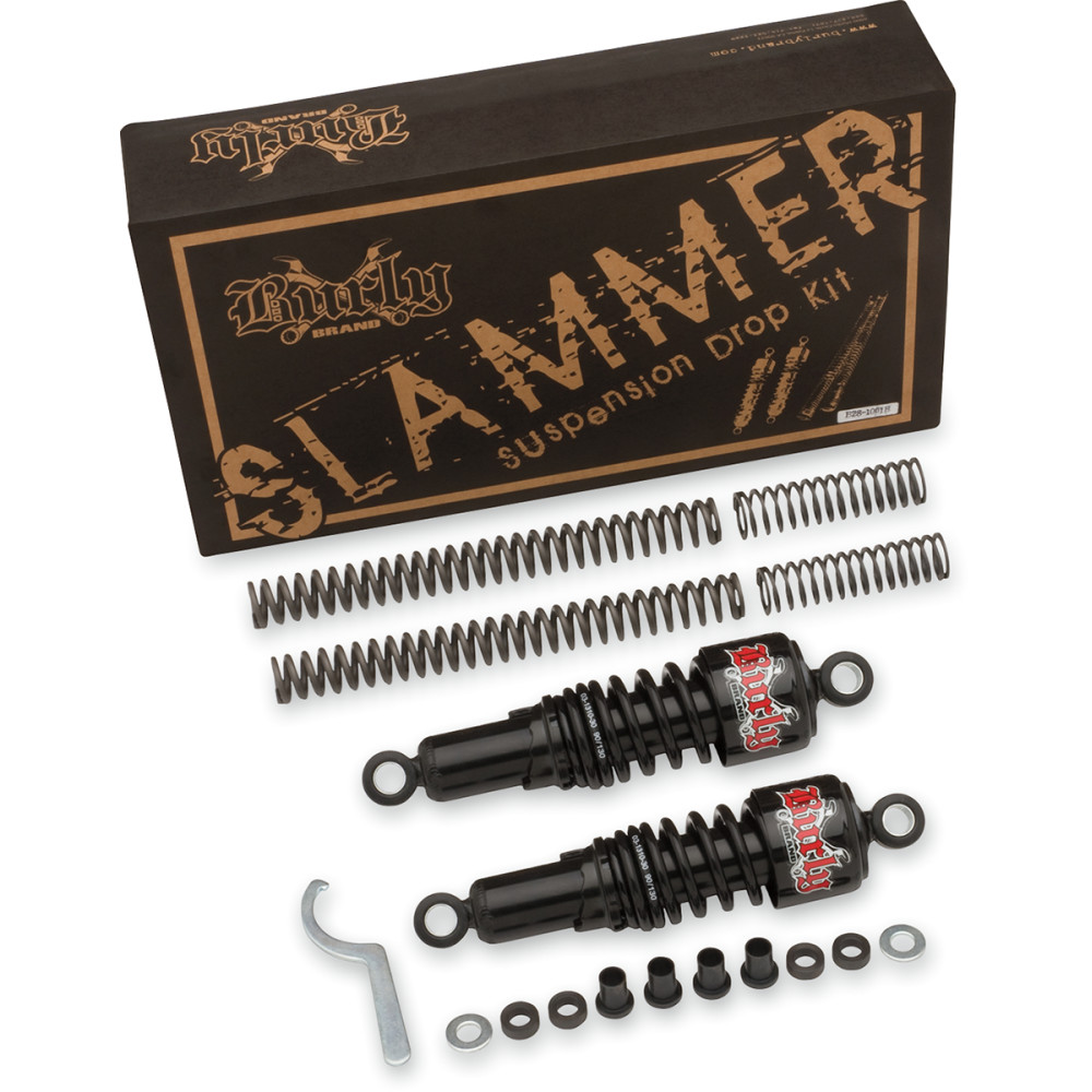 Burly Brand Suspension Kit - Slammer - Black - FXD