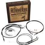 Burly Brand Black Vinyl Jail Bar Cable Kit For 12