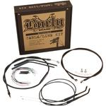 Burly Brand Black Vinyl Jail Bar Cable Kit For 14