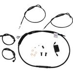 Burly Brand Extended Handlebar Cable And Brake Line Kit For Sportsters With ABS And Clubman Handlebars