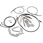 Burly Brand Complete Black Vinyl Handlebar Cable/Brake Line Kit For 12