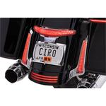 Ciro Taillight/License Plate Holder - Chrome
