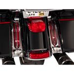 Ciro Filler Panel Lights - Red/Chrome