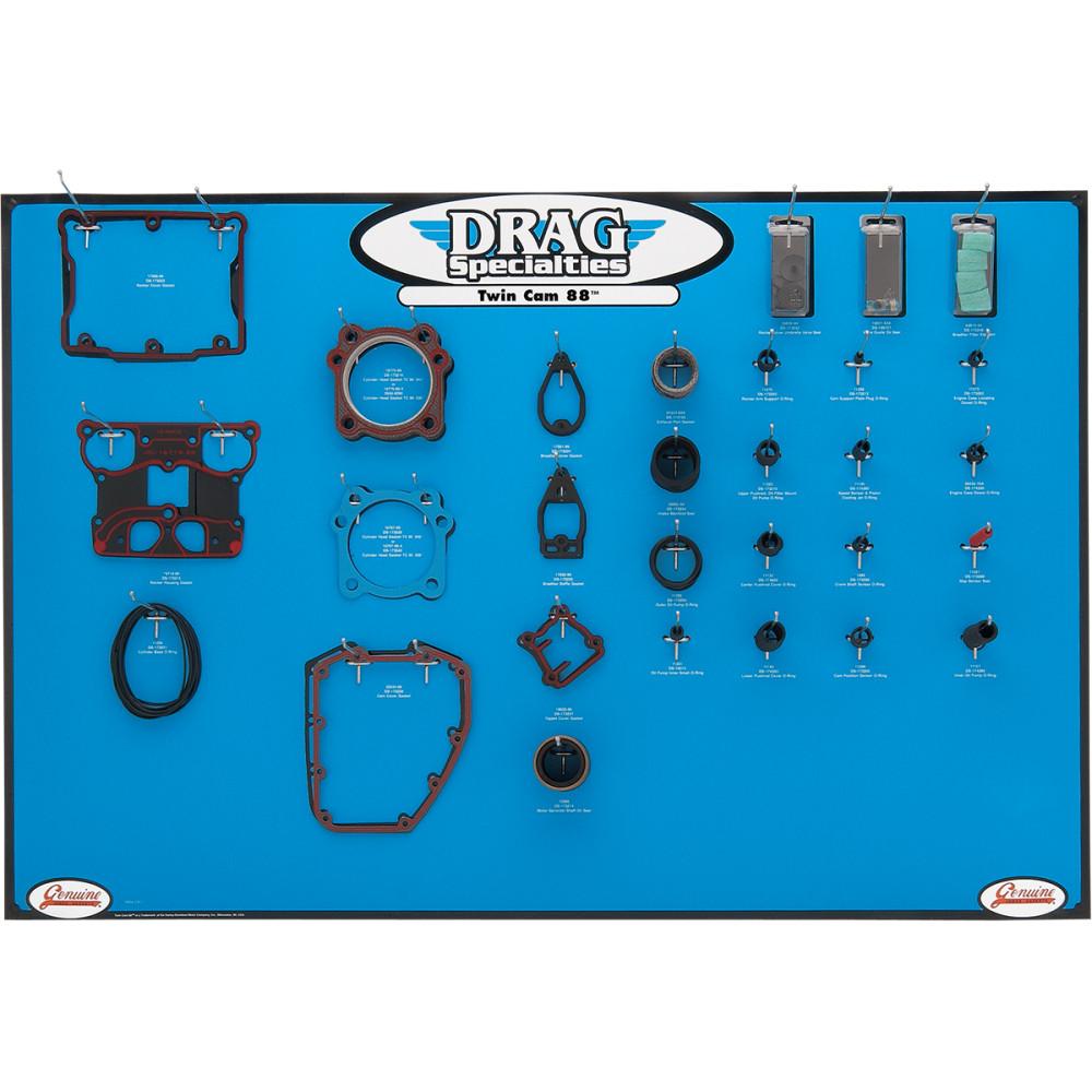 Drag Specialties Gasket Display - Big Twin