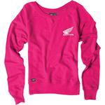 Factory Effex Honda Crewneck Sweatshirt (Pink)