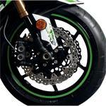 Flu Designs Wheel Decal - Green