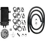 Jagg Oil Coolers Oil Cooler Kit - Chrome - WideLine 10-Row
