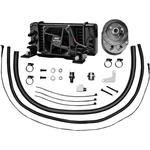 Jagg Oil Coolers 10-Row Oil Cooler Kit - With Fan - Low-Mount
