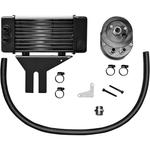 Jagg Oil Coolers Oil Cooler Kit - Chrome - 10-Row - Low Mount