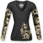 Lethal Threat Love-N-Death Tattoo Sleeve T-Shirt (Black)