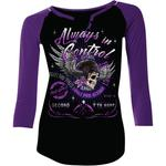 Lethal Threat Lethal Angel Control Long Sleeve T-Shirt (Black / Purple)