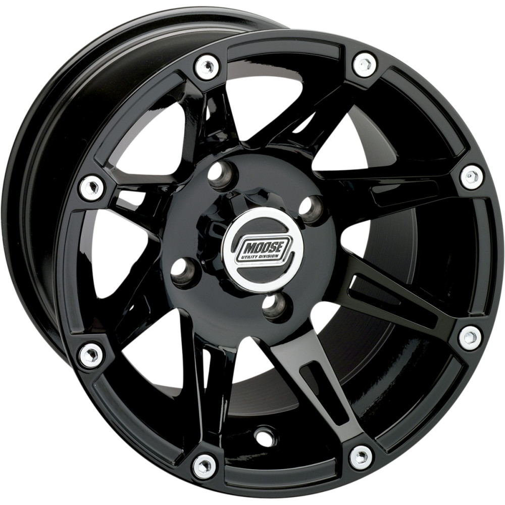 Moose Utility Division Machined Wheel - Standard Lip - 387B - 14X8 - 4/156 - 4+4