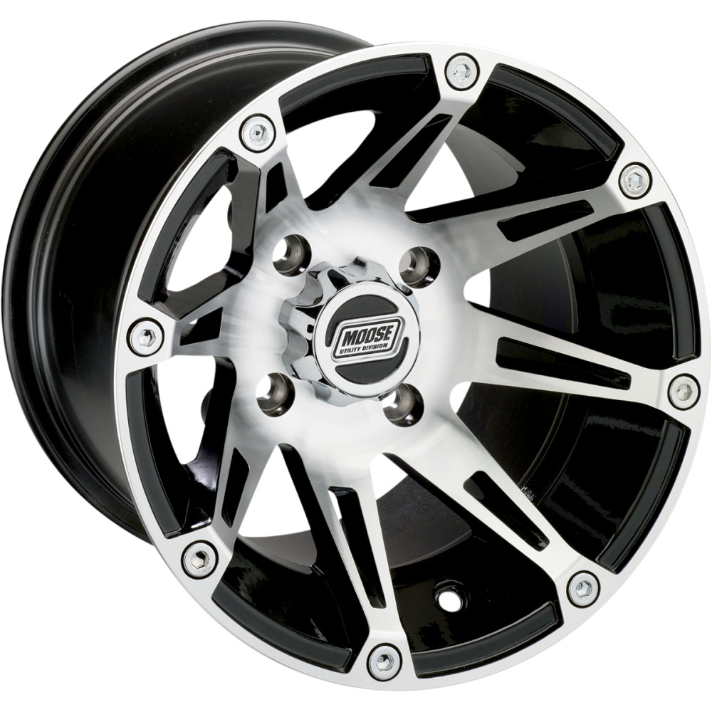 Moose Utility Division Machined Wheel - Standard Lip - 387M - 12X8 4/110 4+4