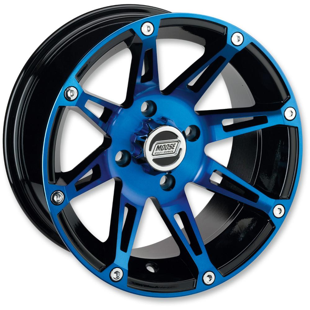Moose Utility Division Machined Wheel - Standard Lip - 387BU - 14X8 - 4/156 - 4+4
