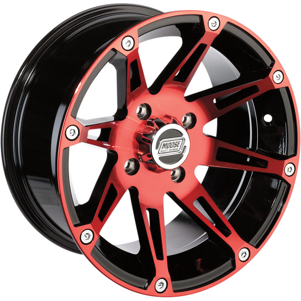 Moose Utility Division Machined Wheel - Standard Lip - 387RD - 14X7 - 4/136 - 4+3