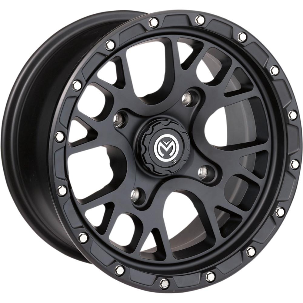 Moose Utility Division Wheel - 545MO - Satin Black - 14X7 - 4/110