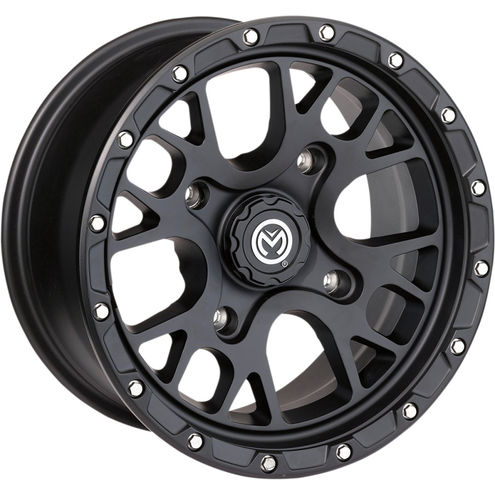 Moose Utility Division Wheel - 545MO - Satin Black - 15X7 - 4/136