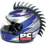 PC Racing Helmet Blade Mohawk (Black) Jagged