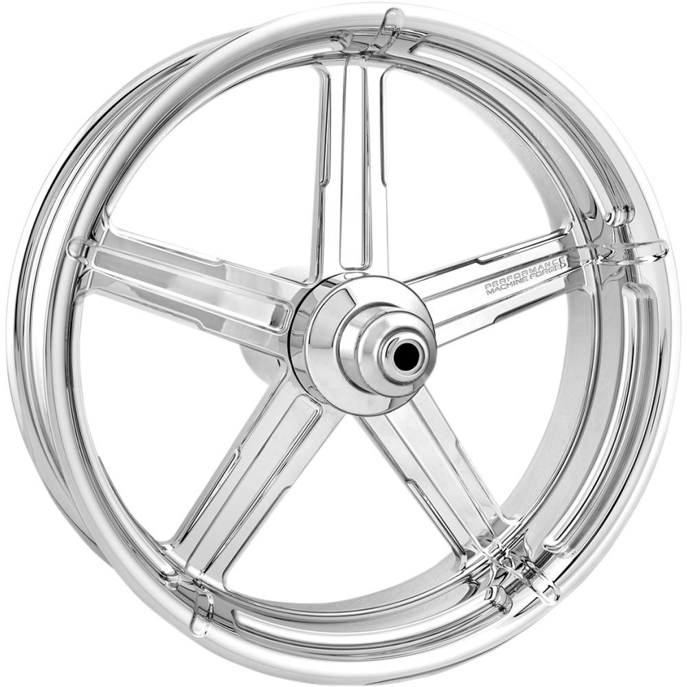 Performance Machine Front Wheel - Formula - Chrome - Dual Disc - 21 x 3.5 - 14+ FL
