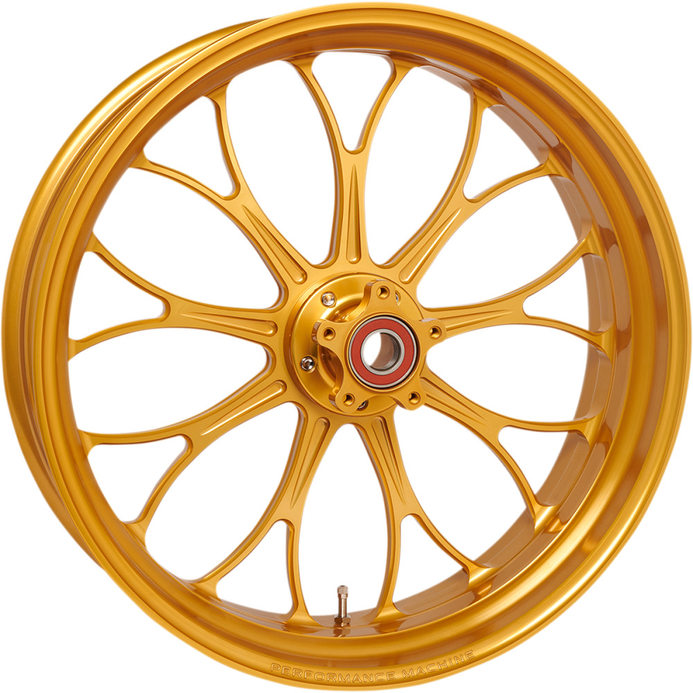 Performance Machine Wheel - Revolution - Gold - Front - 21 X 3.5